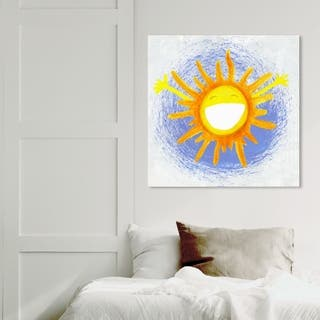 Wynwood Studio 'Rise & Shine' Astronomy and Space Wall Art Canvas Print - Yellow, Blue