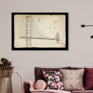 Wynwood Studio 'Golden Gate Bridge 1933' Architecture and Buildings Wall Art Canvas Print - Brown, Black
