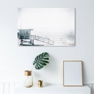 Wynwood Studio 'Beach in Bohemia' Nautical and Coastal Wall Art Canvas Print - White, Gray