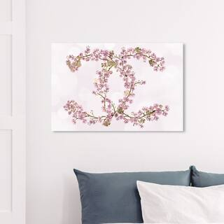Wynwood Studio 'Sakura Love' Fashion and Glam Wall Art Canvas Print - Pink, White