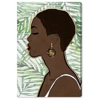Wynwood Studio 'Tropical Queen' People and Portraits Wall Art Canvas Print - Green, Brown