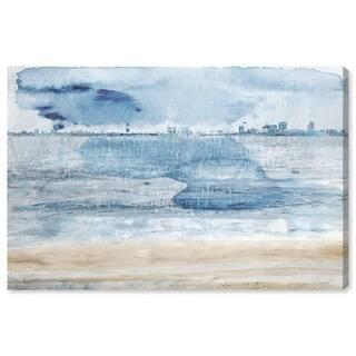 Wynwood Studio 'Miami Bay' Cities and Skylines Wall Art Canvas Print - Blue, Yellow
