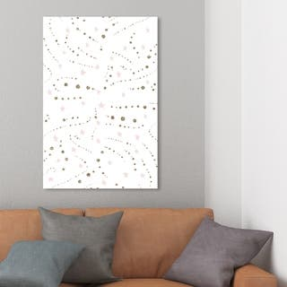 Wynwood Studio 'Stars and Glitter' Abstract Wall Art Canvas Print - White, Gold