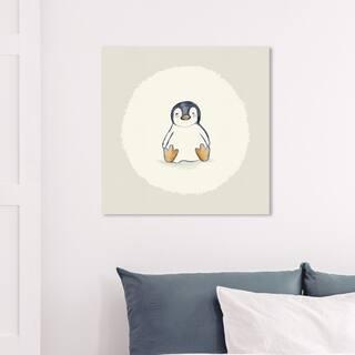 Wynwood Studio 'Penguin' Animals Wall Art Canvas Print - Brown, Brown