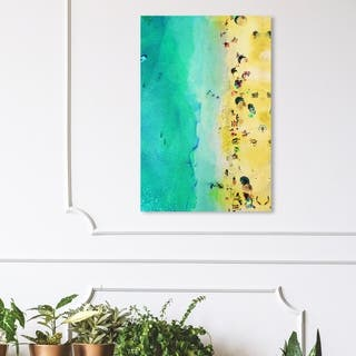 Wynwood Studio 'Italian Summer Sun' Nautical and Coastal Wall Art Canvas Print - Blue, Yellow