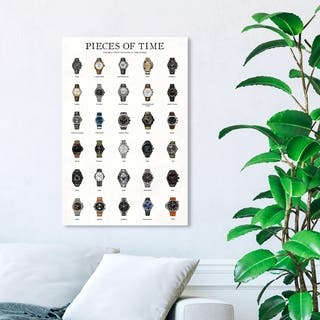 Wynwood Studio 'Piece of Time ' Fashion and Glam Wall Art Canvas Print - White, Brown