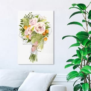 Wynwood Studio 'Tropical Bouquet Bloom' Floral and Botanical Wall Art Canvas Print - Green, Pink