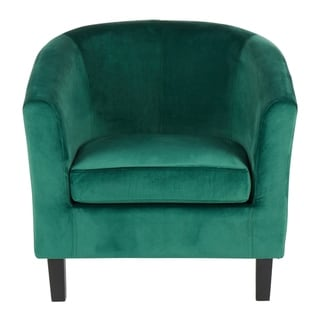 Claudia Velvet Accent Chair - N/A (Green)