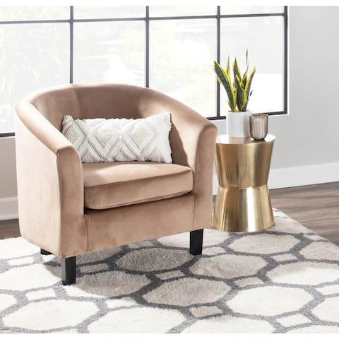 Copper Grove Budva Velvet Accent Chair - N/A