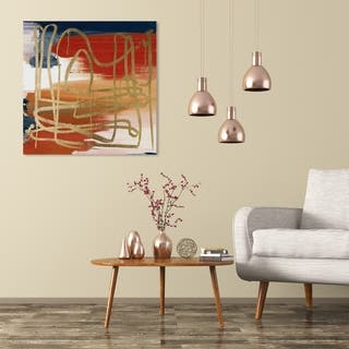 Wynwood Studio 'Crossing The Line Fall' Abstract Wall Art Canvas Print - Gold, Red