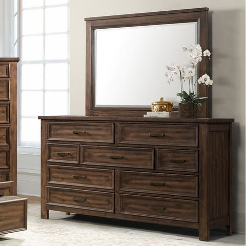 Copper Grove Foxdale 9-drawer Dresser and Mirror Set
