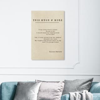 Wynwood Studio 'This Much and More Poem' Typography and Quotes Wall Art Canvas Print - White, Black