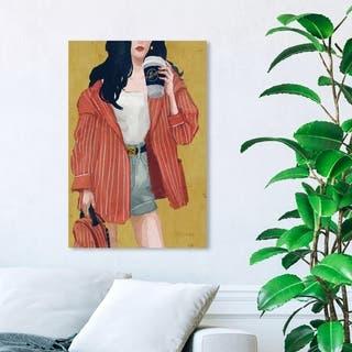 Wynwood Studio 'Terracotta Blazer' Fashion and Glam Wall Art Canvas Print - Yellow, Red