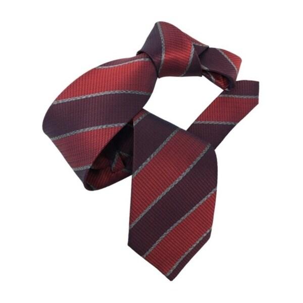 DMITRY Burgundy Striped Italian Silk Tie