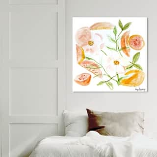 Wynwood Studio 'Hope Bainbridge - Floral III' Floral and Botanical Wall Art Canvas Print - Orange, White