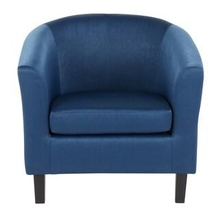 Claudia Satin Accent Chair - N/A (Navy Blue)