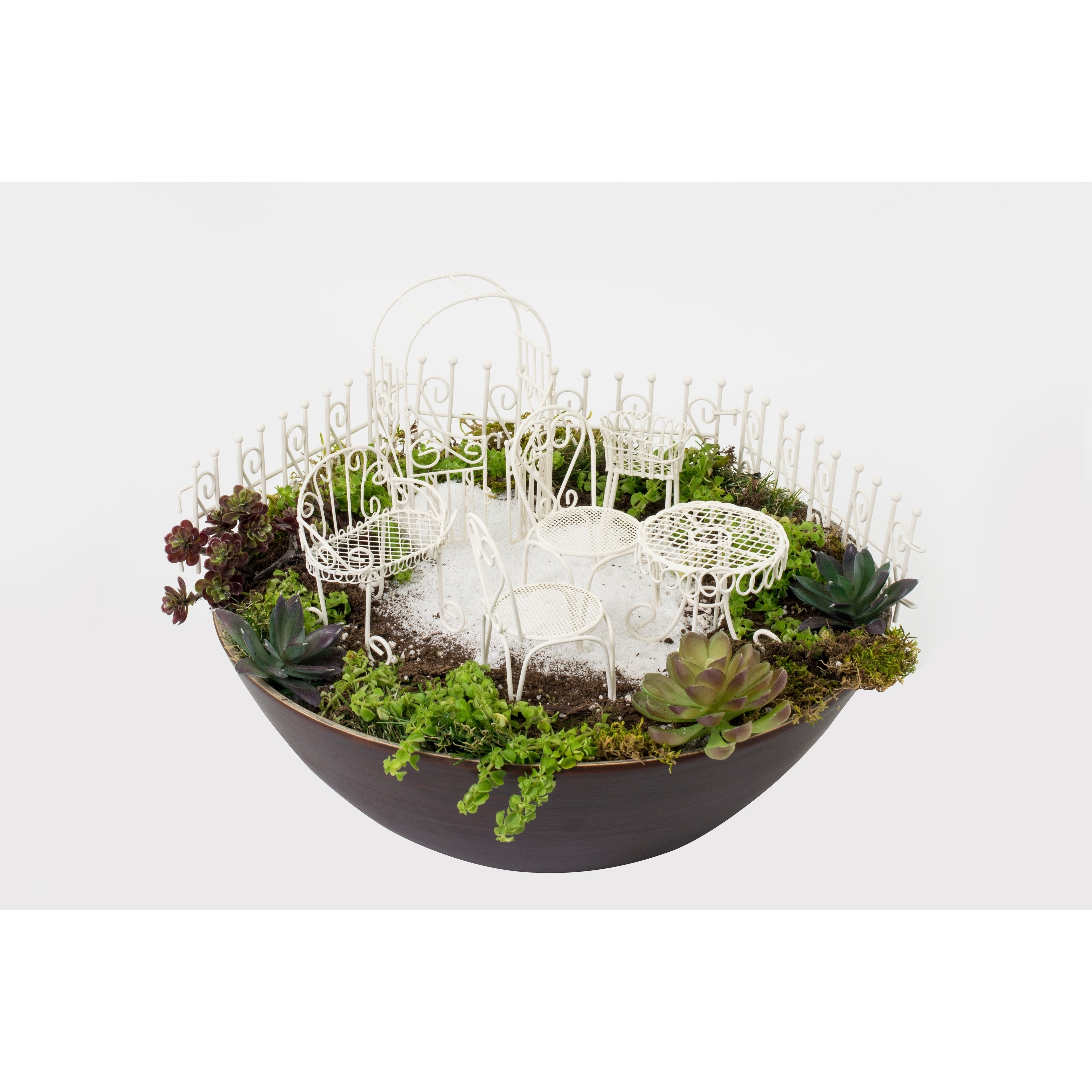 Fairy Garden - Furniture Set Of 10 - Off-White