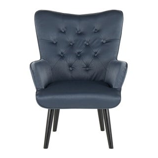 Isabel Contemporary Satin Accent Chair - N/A (Slate Grey)
