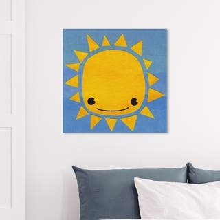 Wynwood Studio 'Sun' Astronomy and Space Wall Art Canvas Print - Yellow, Blue