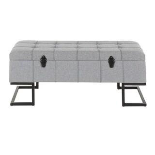Midas Contemporary Storage Bench - N/A (Grey)