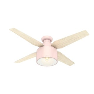"Hunter 52"" Cranbrook Low Profile Ceiling Fan with LED Light Kit - Blush Pink"