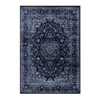 Luxury Traditional Stylish Area Rug Runner in Navy Blue 2x3 5x7 8x10 6x9 Feet