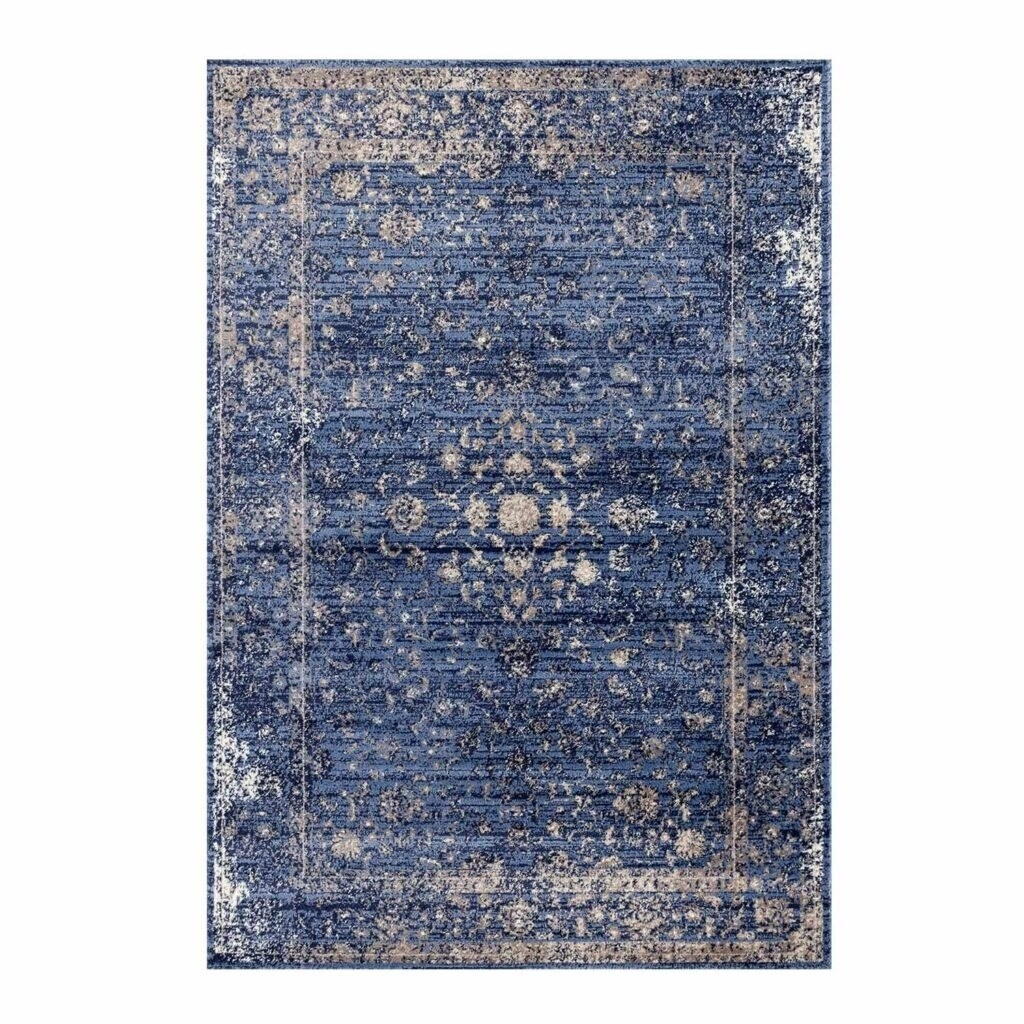 Traditional Style Area Rug In Blue And Beige 3x5 5 By 7 8x10 6 By 9 Feet Ft Overstock 29197758