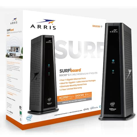 Arris SURFboard SBG8300 DOCSIS 3.1 Cable Modem & Dual-Band Wi-Fi Router for Xfinity and Cox service tiers