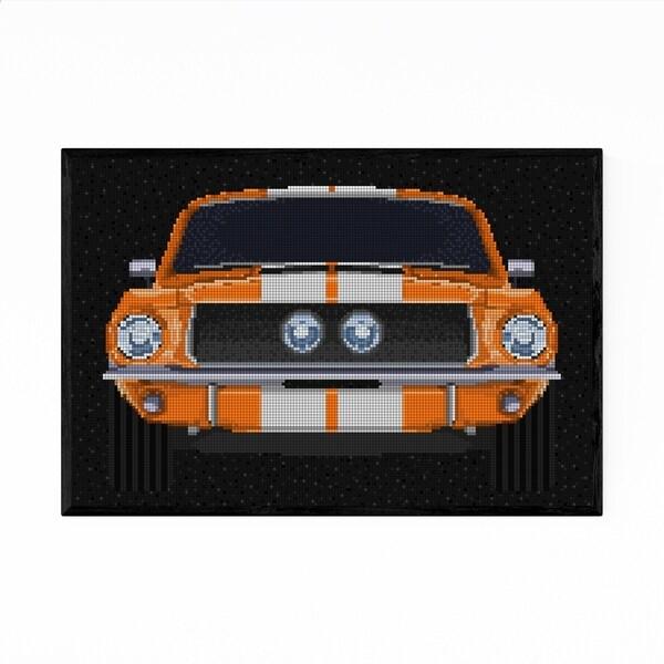 Noir Gallery 1967 Ford Mustang Vintage Car Framed Art Print