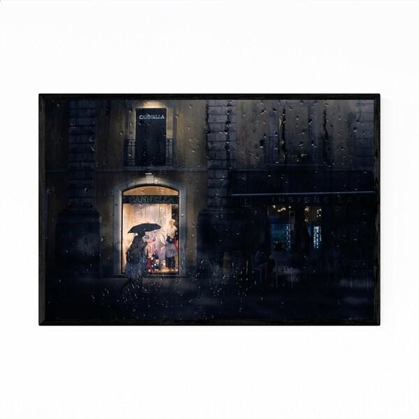 Noir Gallery Rainy Catania Italy Photography Framed Art Print