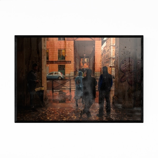 Noir Gallery Rainy Rome Italy Photography Framed Art Print