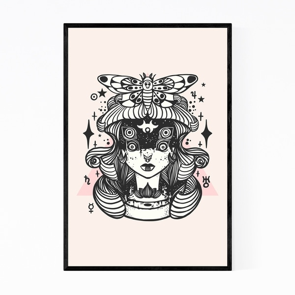 Noir Gallery Witch Feminine Figurative Fantasy Framed Art Print