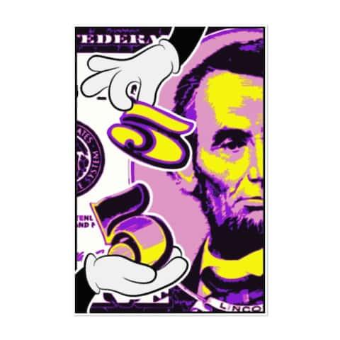 Noir Gallery Abraham Lincoln Pop Art Funny Unframed Art Print/Poster