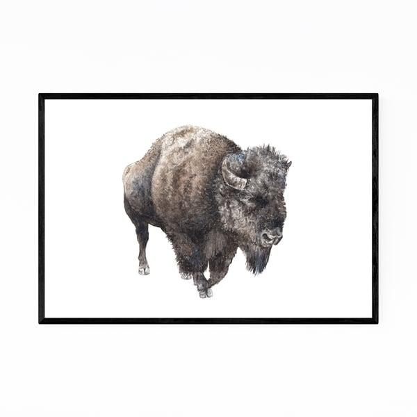 Noir Gallery Buffalo Animal Painting Nature Framed Art Print