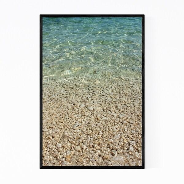 Noir Gallery Adriatic Sea Croatia Beach Pebbles Framed Art Print