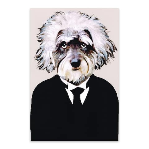 Noir Gallery Funny Einstein Schnauzer Painting Metal Wall Art Print