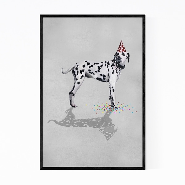 Noir Gallery Funny Dalmatian Party Painting Framed Art Print