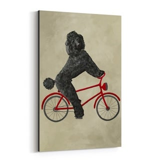 Noir Gallery Poodle On Bicycle Painting Canvas Wall Art Print