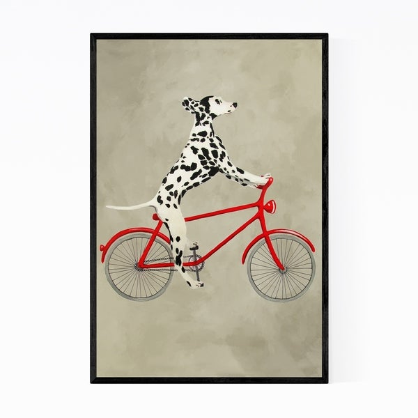 Noir Gallery Dalmatian On Bicycle Painting Framed Art Print