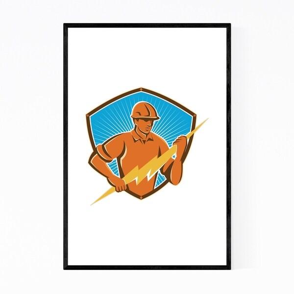 Noir Gallery Electrician Gift Contractor Retro Framed Art Print
