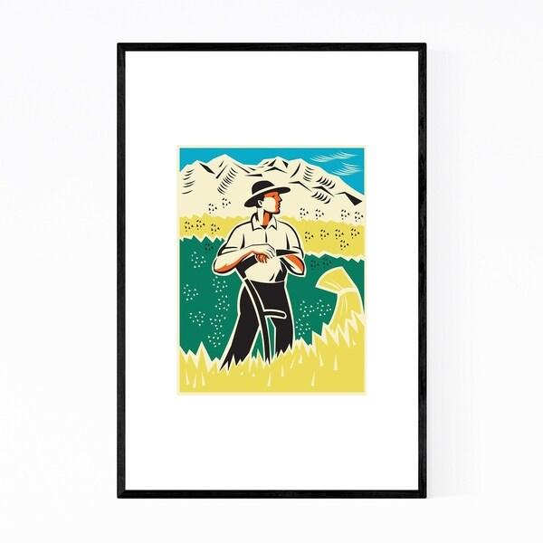 Noir Gallery Farmer Gift Agriculture Retro Framed Art Print