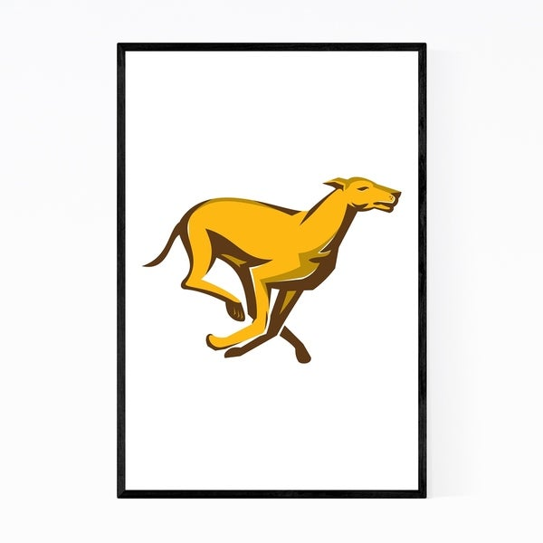 Noir Gallery Greyhound Dog Racing Retro Framed Art Print