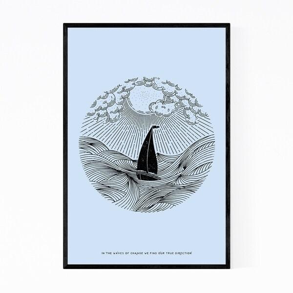 Noir Gallery Nautical Quote Inspirational Framed Art Print