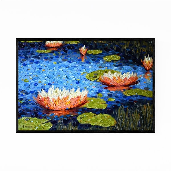Noir Gallery Lily Pads Nature Painting Framed Art Print