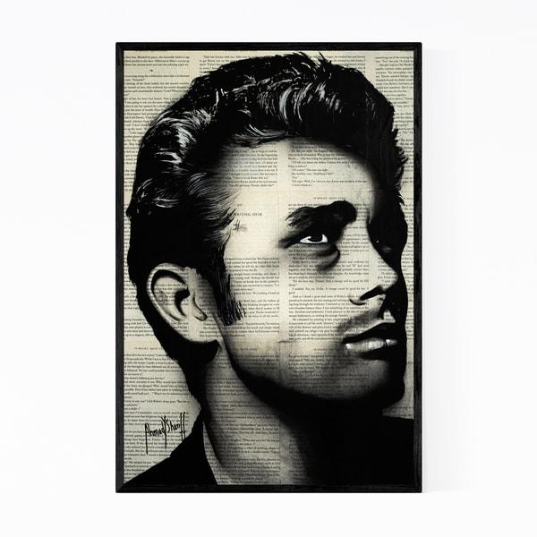 Noir Gallery James Dean Pop Culture Icons Framed Art Print
