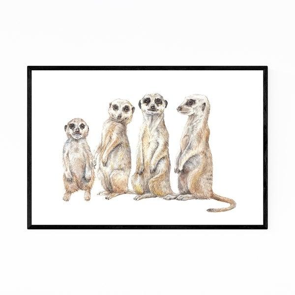 Noir Gallery Meerkat Animal Painting Nature Framed Art Print