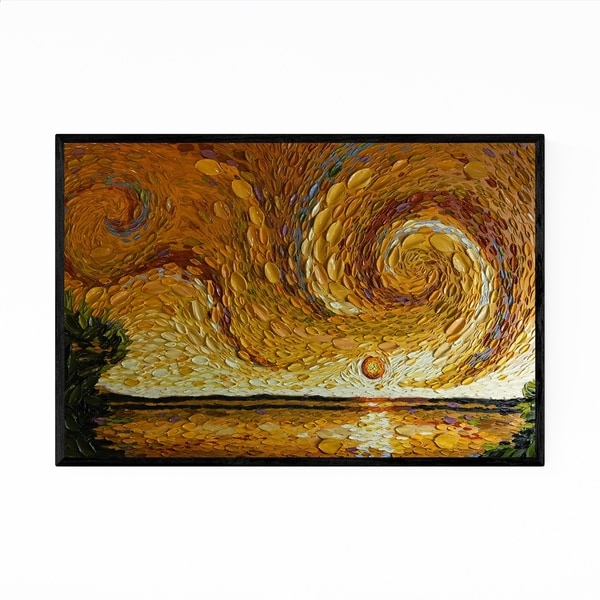 Noir Gallery Nature Abstract Landscape Painting Framed Art Print