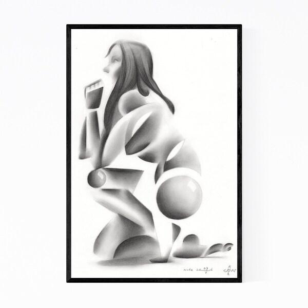 Noir Gallery Abstract Feminine Nude Figurative Framed Art Print