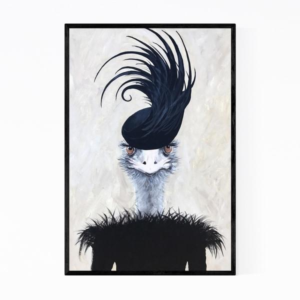 Noir Gallery Funny Ostrich Feather Hat Fashion Framed Art Print