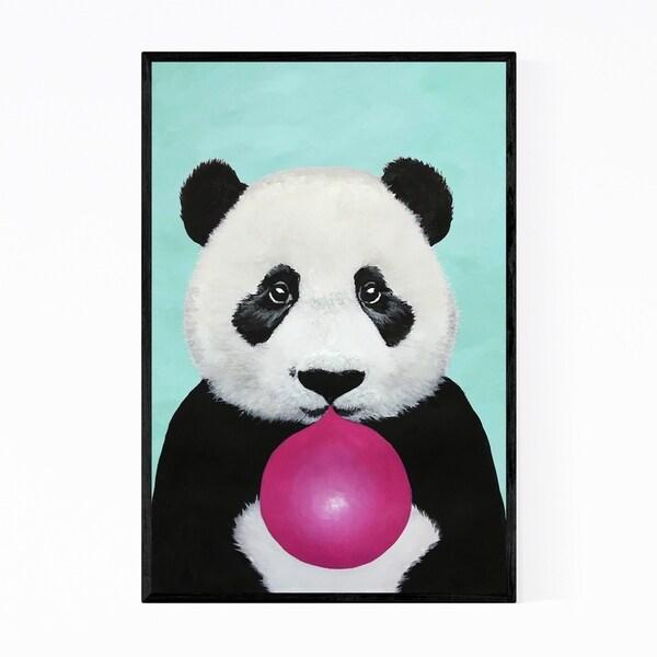 Noir Gallery Cute Panda Bubblegum Painting Framed Art Print